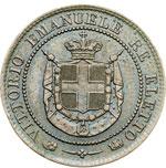 obverse:  Vittorio Emanuele II (1859-1861) 2 centesimi 1859.