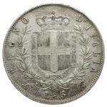 reverse:  Vittorio Emanuele II  (1861-1878) 5 lire 1864 N.