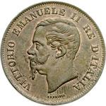 obverse:  Vittorio Emanuele II  (1861-1878) 5 centesimi 1862 N.