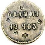 reverse:  Vittorio Emanuele II  (1861-1878) Peso monetale per le 40 lire in oro del 1862