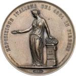 reverse:  Vittorio Emanuele II (1861-1878) Medaglia al merito per l esposizione del 1861 a Firenze.