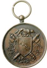 obverse:  Vittorio Emanuele II  (1861-1878) Medaglia 1870, commemorativa della liberazione di Roma.