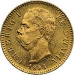 obverse:  Umberto I (1878-1900) 20 lire 1893.