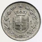 reverse:  Umberto I (1878-1900) Lira 1887 M.