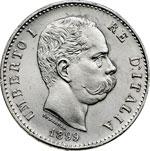 obverse:  Umberto I (1878-1900) Lira 1899.