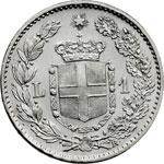 reverse:  Umberto I (1878-1900) Lira 1899.