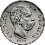 obverse:  Umberto I (1878-1900) Lira 1900.
