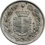 reverse:  Umberto I (1878-1900) Lira 1900.