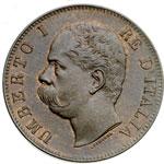 obverse:  Umberto I (1878-1900) 10 centesimi 1893 R.