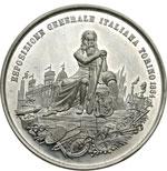 reverse:  Umberto I (1878-1900) Medaglia 1884 per l esposizione generale italiana di Torino.