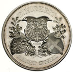 reverse:  Prussia  Umberto I (1878-1900) Medaglia 1892, per il V anniversario dell alleanza tra l Impero Austro-Ungarico, la Germania e l Italia.