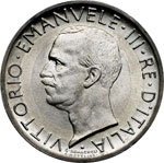 obverse:  Vittorio Emanuele III (1900-1946) 5 lire 1926.