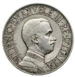 obverse:  Vittorio Emanuele III (1900-1946) 2 lire 1911.