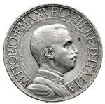 obverse:  Vittorio Emanuele III (1900-1946) 2 lire 1912.