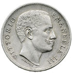 obverse:  Vittorio Emanuele III (1900-1946) Lira 1906.