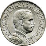obverse:  Vittorio Emanuele III (1900-1946) Lira 1912.