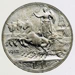 reverse:  Vittorio Emanuele III (1900-1946) Lira 1912.