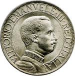 obverse:  Vittorio Emanuele III (1900-1946) Lira 1913.