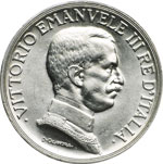 obverse:  Vittorio Emanuele III (1900-1946) Lira 1915.