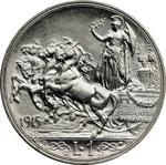 reverse:  Vittorio Emanuele III (1900-1946) Lira 1915.