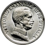obverse:  Vittorio Emanuele III (1900-1946) Lira 1917.
