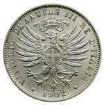 obverse:  Vittorio Emanuele III (1900-1946) 25 centesimi 1902.