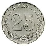 reverse:  Vittorio Emanuele III (1900-1946) 25 centesimi 1902.