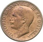 obverse:  Regno di Italia  Vittorio Emanuele III (1900-1946) 10 centesimi 1919 R.