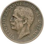 obverse:  Vittorio Emanuele III (1900-1946) 10 centesimi 1919.