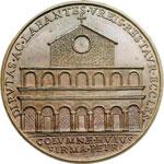 reverse:  Martino V (1417-1431), Oddone Colonna Medaglia 1664, di restituzione per i lavori alla facciata della basilica dei Santi Apostoli.