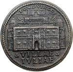 reverse:  Giulio III (1550-1555)  Giovanni Maria de  Ciocchi del Monte. (1550-1555) Medaglia A. IV per la costruzione di Villa Giulia a Roma ad opera del Vignola