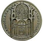 reverse:  Gregorio XIII (1572-1585), Ugo Boncompagni Medaglia commemorativa 1578 per la consacrazione della Cappella Gregoriana nella Basilica di San Pietro.