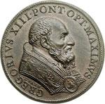 obverse:  Gregorio XIII (1572-1585), Ugo Boncompagni Medaglia 1582, per commemorare l introduzione del calendario gregoriano.