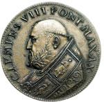 obverse:  Clemente VIII (1592-1605), Ippolito Aldobrandini  Medaglia A. X. per la pace tra Enrico IV di Francia ed il Duca di Savoia.