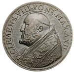 obverse:  Clemente VIII (1592-1605), Ippolito Aldobrandini  Medaglia A. XII, invocazione di pace contro le nuove minacce dei turchi.