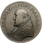 obverse:  Clemente VIII (1592-1605), Ippolito Aldobrandini  Medaglia A XIII