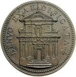 reverse:  Urbano VIII (1623-1644), Maffeo Barberini Medaglia A. XVI, per i restauri alla chiesa di San Caio.