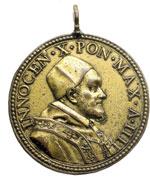 obverse:  Innocenzo X (1644-1655) Giovanni Battista Pamphili Medaglia annuale A. IV