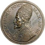 obverse:  Clemente IX (1667-1669), Giulio Girolamo Rospigliosi Medaglia, A. III, per le canonizzazioni di S. Pietro d Alcantara e S. Maria Maddalena dè Pazzi di Firenze.