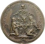 reverse:  Clemente IX (1667-1669), Giulio Girolamo Rospigliosi Medaglia, A. III, per le canonizzazioni di S. Pietro d Alcantara e S. Maria Maddalena dè Pazzi di Firenze.