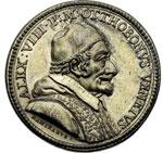 obverse:  Alessandro VIII (1689-1691), Pietro Vito Ottoboni  Medaglia 1690 per la canonizzazione di Lorenzo Giustinian