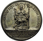 reverse:  Alessandro VIII (1689-1691), Pietro Vito Ottoboni  Medaglia 1690 per la canonizzazione di Lorenzo Giustinian