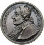 obverse:  Clemente XIII (1758-1769) , Carlo Rezzonico Medaglia 1762 per la scoperta dei giacimenti minerari di Polino Castello.