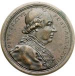 obverse:  Pio VI (1775-1799), Giovanni Angelo Braschi Medaglia annuale, A. XVII. Per la bonifica dell agro pontino.