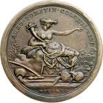 reverse:  Pio VI (1775-1799), Giovanni Angelo Braschi Medaglia annuale, A. XVII. Per la bonifica dell agro pontino.