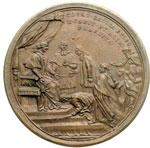 reverse:  Pio VI (1775-1799), Giovanni Angelo Braschi Medaglia annuale, A. XXI. Per l istituzione dell Opera Pia della ospitalità francese.