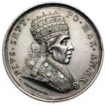 obverse:  Pio VII (1800-1823), Barnaba Chiaramonti Medaglia annuale A.XX