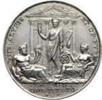 reverse:  Pio VII (1800-1823), Barnaba Chiaramonti Medaglia annuale A.XX