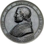 obverse:  Pio IX  (1846-1878), Giovanni Mastai Ferretti Medaglia celebrativa, per la ricostruzione della basilica di S. Paolo.