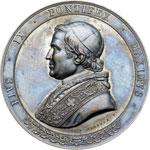 obverse:  Pio IX (1846-1878), Giovanni Mastai Ferretti Medaglia 1857, A. XII, offerta dall Università di Bologna al Pontefice in occasione della sua visita.